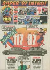 comics ad - Paramus Honda - Bergen Record 96-11-29