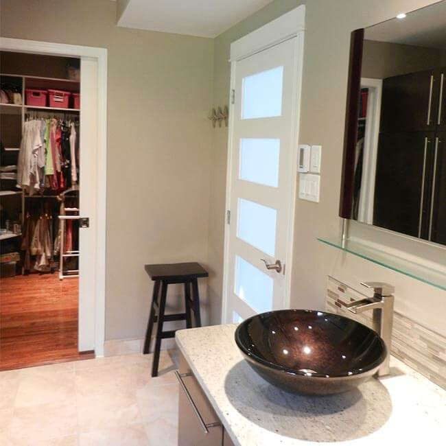 Master Ensuite Remodel With Walk In Closet South End Halifax