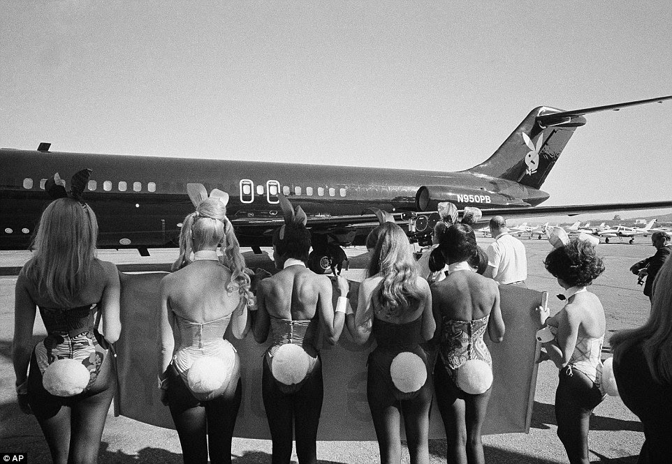 This was no normal jet, which was clear from the moment you were greeted by the air hostesses on the tarmac, who wore bunny ears and tails