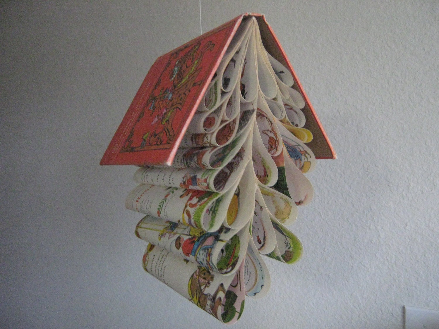 Book Mobile Upcycled from a Vintage Children's Book: Treasury of Literature
