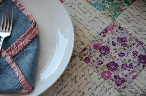 Liberty Lemonade reversible table cloth