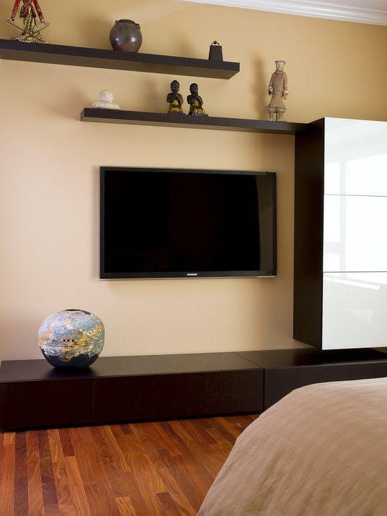 Floating Shelf With Tv (13 Image)   Wall Shelves
