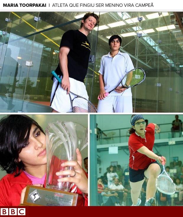 MOSAICO - Maria Toorpakai squash (Foto: Reprodução / BBC)