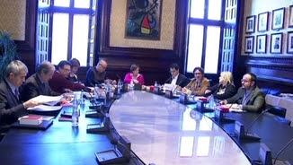 La mesa del Parlament el dia que va admetre a tràmit la petició de ponència conjunta per les lleis clau del procés independentista
