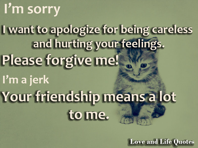 Im Sorry I Want To Apologize For Being Careless And Hurting Your