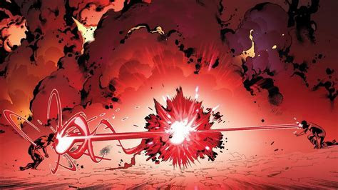 Red comics explosions fight marvel cyclops scott summers