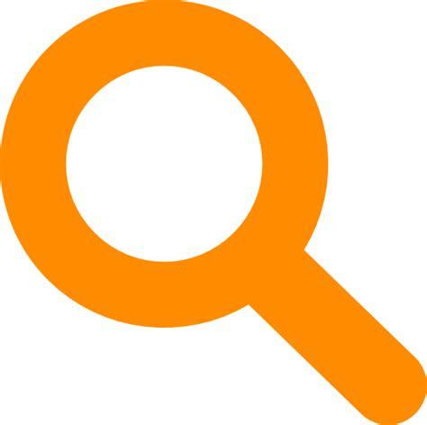 search icon orange clip art  clkercom vector clip art