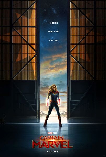 The teaser poster for CAPTAIN MARVEL. Can you spot Chewie the Cat?