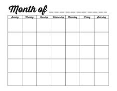 Free Blank Printable Calendar | Printables | Pinterest | Cases ...