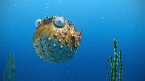 A cartoon Corky the Blowfish wallpapers and images