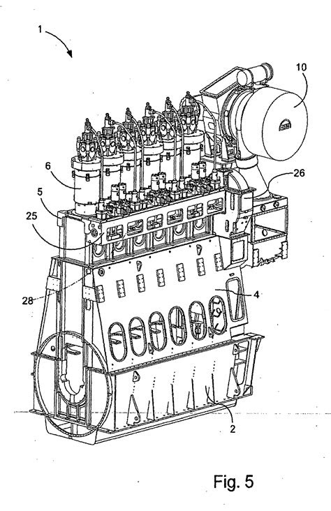 Patent EP2071177B1 - Large uniflow two-stroke diesel