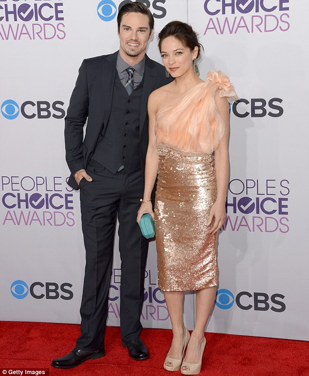 Up and coming: Jay Ryan and Kristin Kreuk were presented with the New TV Drama prize for their show Beauty And The Beast