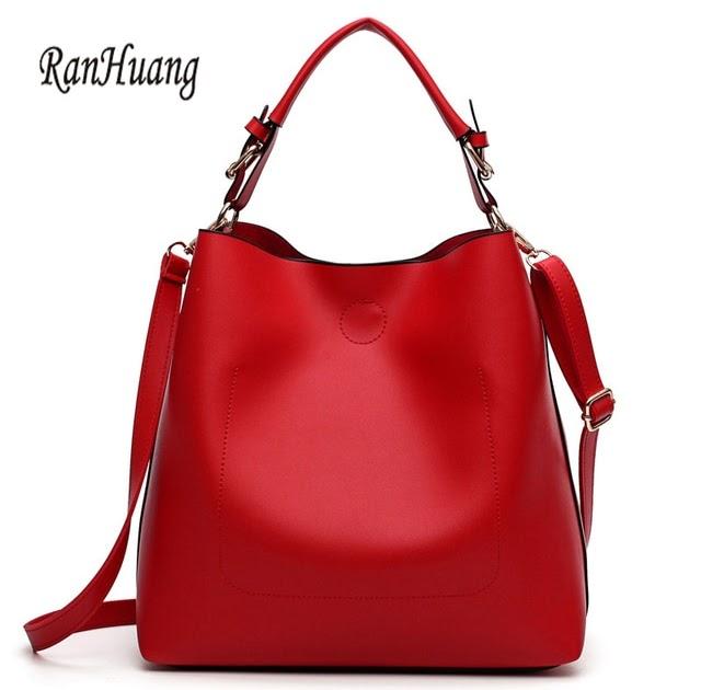 daff7e76124 shoulder bags for school  Best Offers RanHuang New Arrive 2018 Women  Fashion Messenger Bags PU Leather Bucket Bag Women s Red Shoulder Bags  bolsa feminina ...