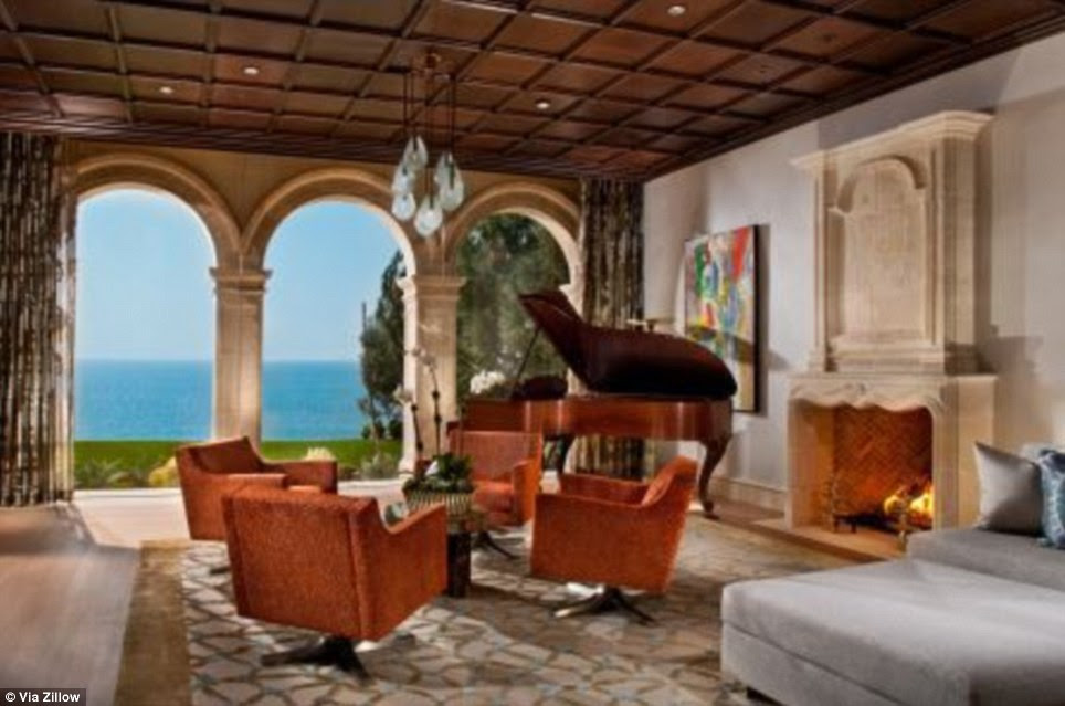 Seaside living: The home has spectacular views of the ocean, and is estimated to be the largest oceanfront home in the area