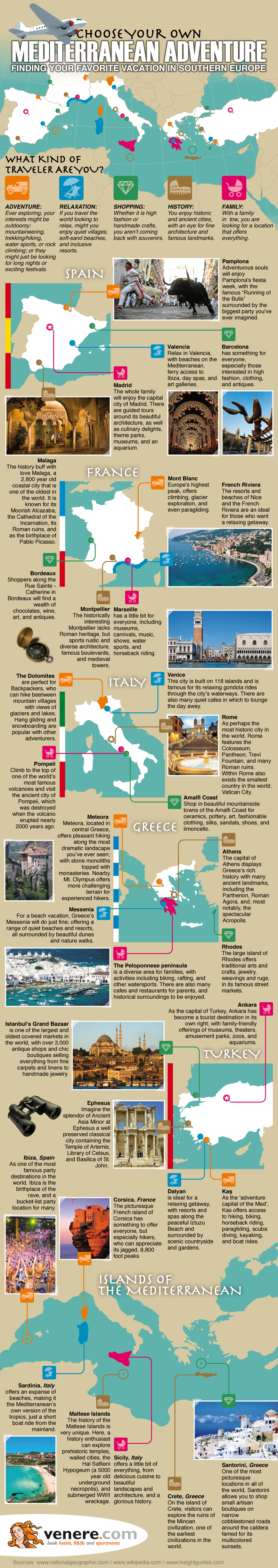 Infographic: Choose Your Own Mediterranean Adventure #infographic