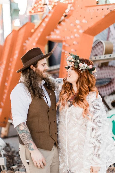 Laid Back Las Vegas Wedding with a Neon Graveyard Ceremony