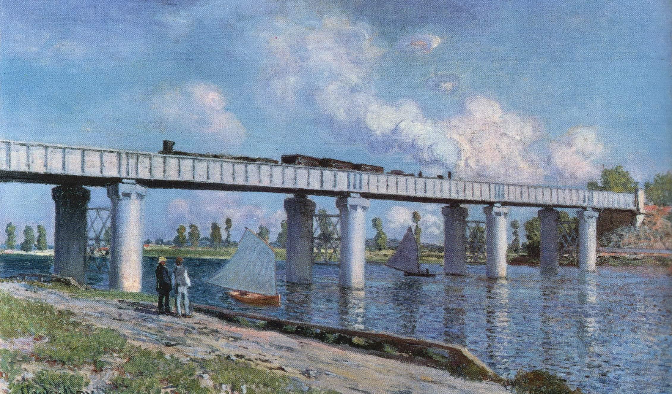 Claude Monet Le Pont du chemin de fer à Argenteuil. 1873