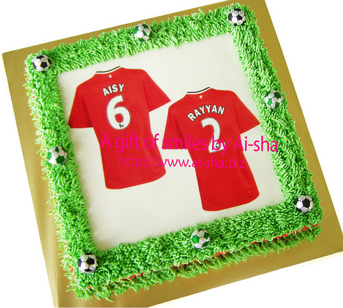 Birthday Cake Edible Image Manchester United Jersey