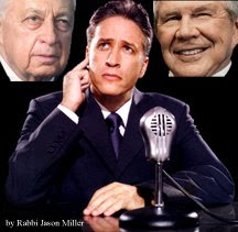 Ariel Sharon, Jon Stewart and Pat Robertson (by Rabbi Jason Miller)