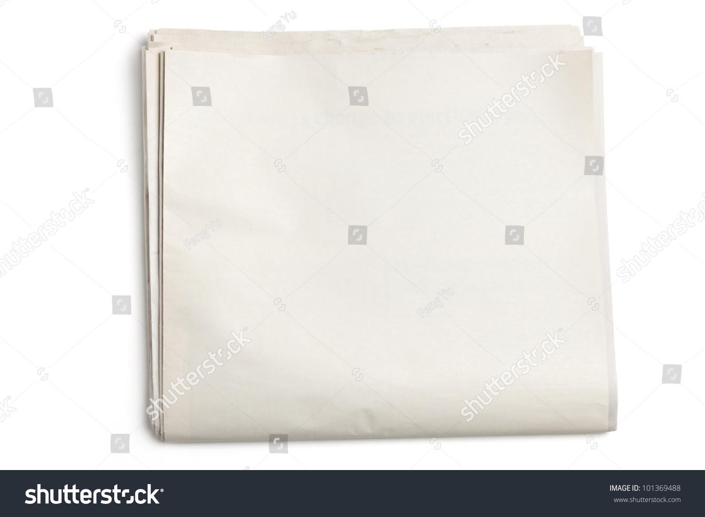 Blank Newspaper White Background Stock Photo 101369488 - Shutterstock