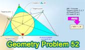 Problema de Geometría 52: Triangulo, Incentro, Puntos de tangencia, Ángulos.