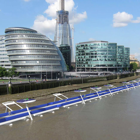 Floating cycle path proposed<br /> for London's River Thames