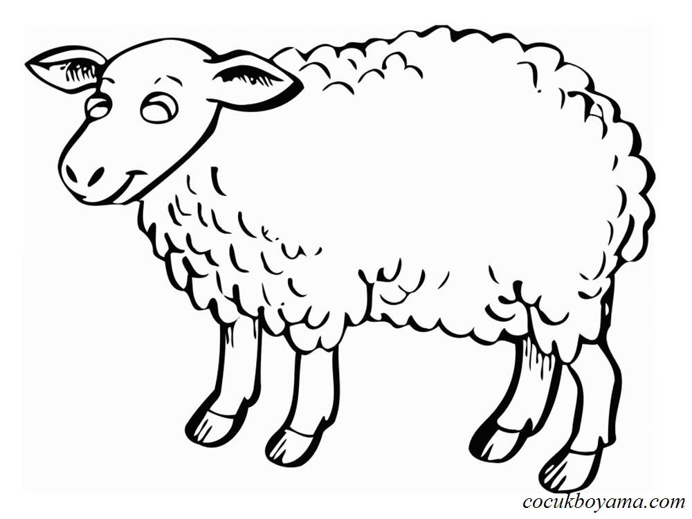 Koyun 7 ücretsiz Boyama Resimleri