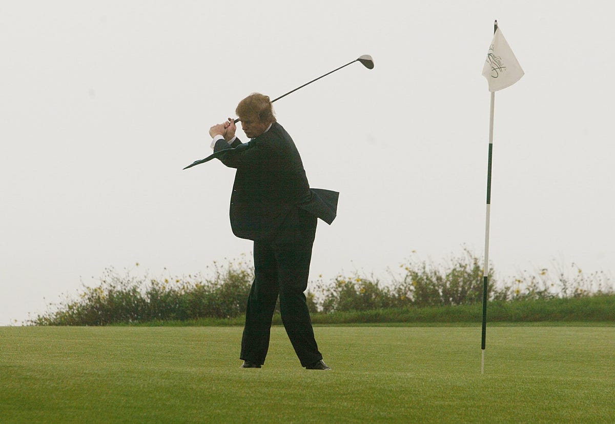 Unbeknownst to many, Donald Trump is a formidable opponent on the green. He owns 15 golf courses.