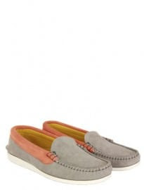 Maison Kitsune X Quoddy Moccasin Grey Shoes