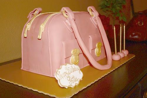 Marc Jacobs Blake Bag Cake - sides zipper detail