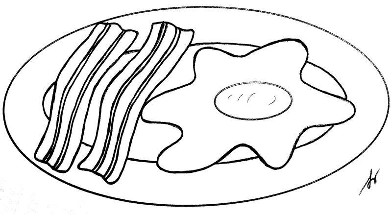 Coloriage Oeuf Sur Le Plat Et Bacon