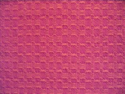 Red warp & orange weft.