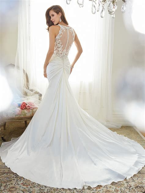 Fit and Flare Wedding Dress with Shoulder Straps