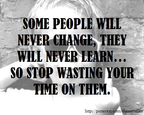 People Will Never Change Quotes