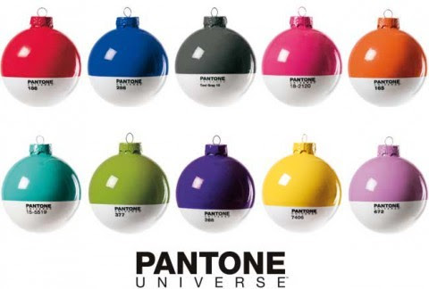 These Pantone Christmas Ornaments make my designer heart all kinds of happy.