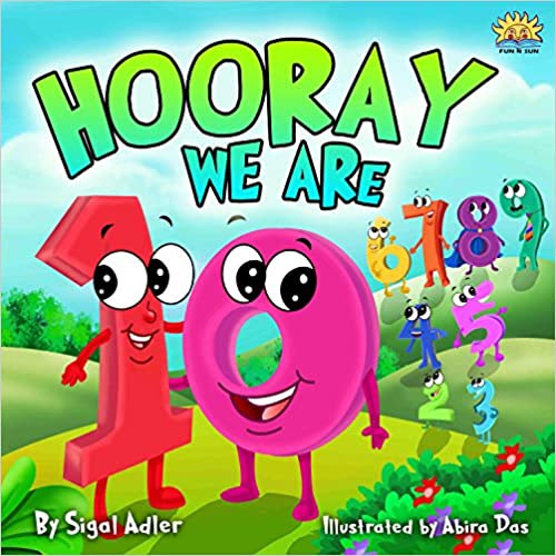 "Children's book: ""HOORAY WE'RE 10"" (Bedtime story)values(beginner early readers)Funny,Preschool-Rhymes(Early learning)picture book-kids series (Numbers ... Toddler books (Toddlers ebooks for bedtime)"