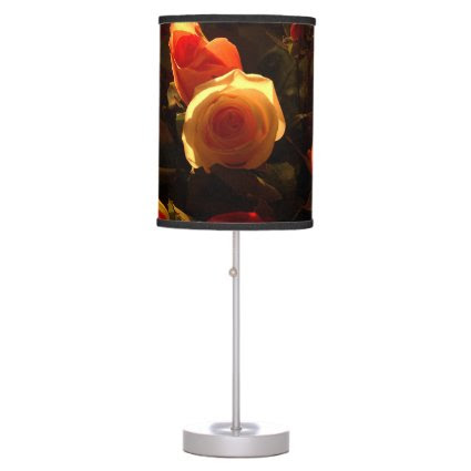 Roses I - Orange, Red and Gold Glory Lamp