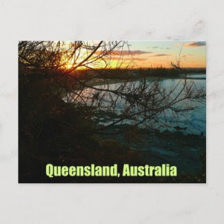 Queensland, Australia Sunset postcard