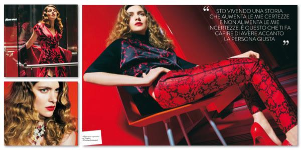 Editoriale fotografico moda - Fotografa Stephanie Pfriender Stylander - Vittoria Puccini