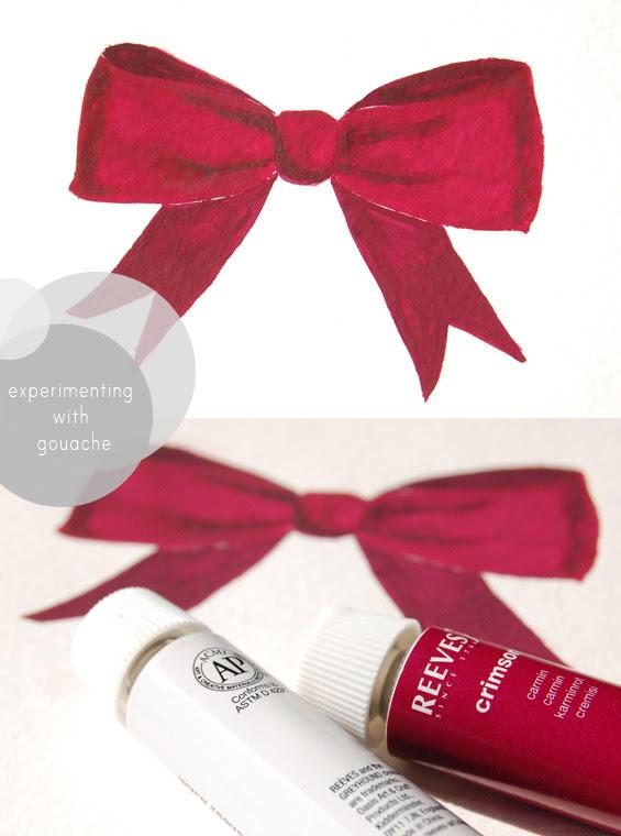 gouache painted bow