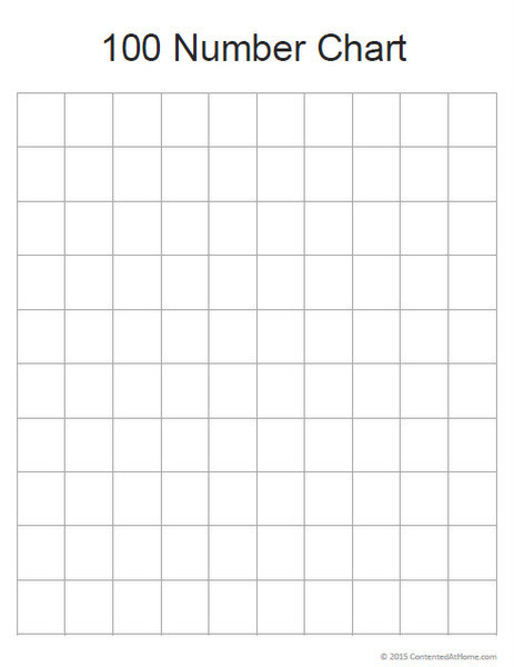 Free Math Printable: Blank 100 Number Chart   Contented at Home