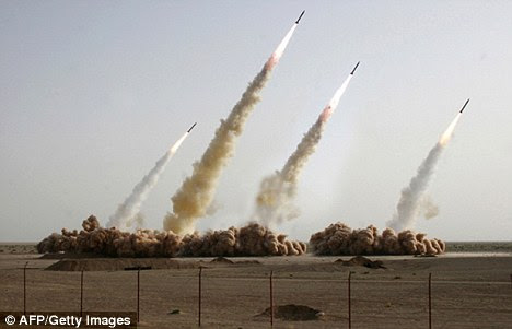 Threat: Iranian missiles, seen being tested in 2008, could hit Europe, the U.S. says
