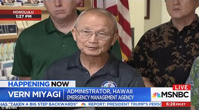 EMA Administrator Vern Miyagi said the employee who issued the mistaken alert did not realize what had happened until his own mobile phone began blaring