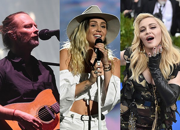 Thom Yorke, Miley Cyrus, Madonna (Foto: Getty Images)