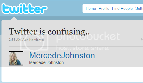 Mercede Johnston's debut tweet