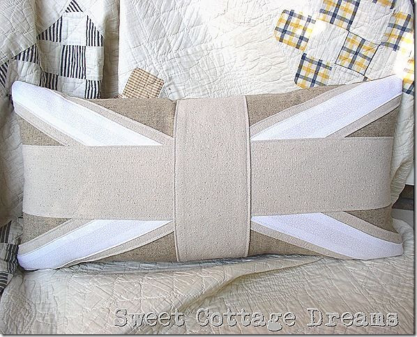 Union Jack Pillow In Neutrals.
