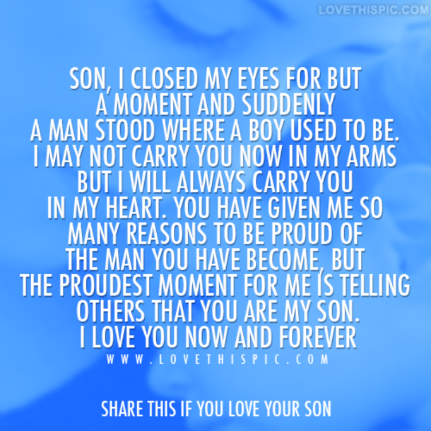 Quotes About Proud Son 66 Quotes