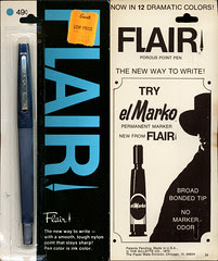 Gillette - Flair pen - blue - el Marko - package - 1970