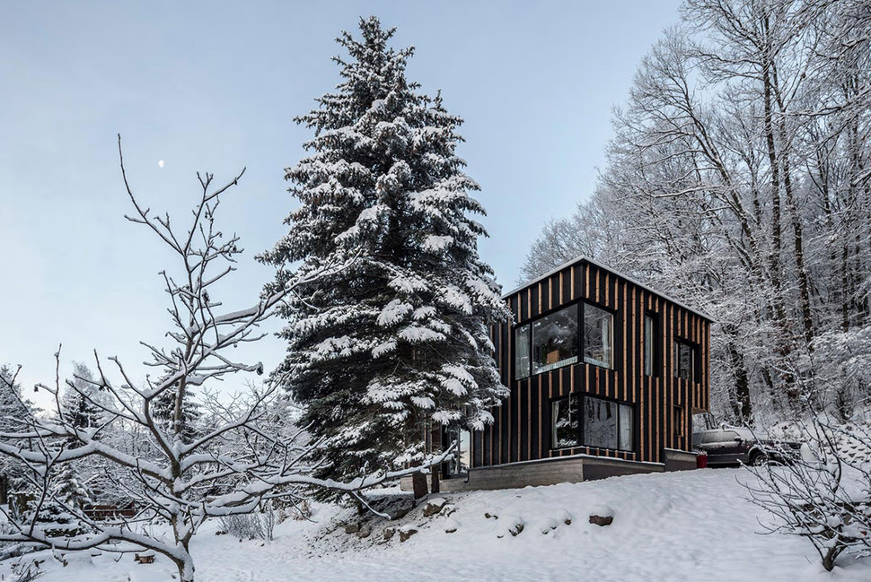 Timber Cabin Built in Two Days | Modern House Designs