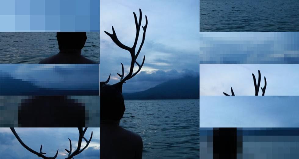 Imágenes del vídeo 'Damien Jalet, the Ferryman', de Gilles Delmas, 2017, que se proyecta en el Palazzo Fortuny, dentro de la muestra 'Intuition'.
